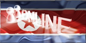 Flag of North Korea wavy online